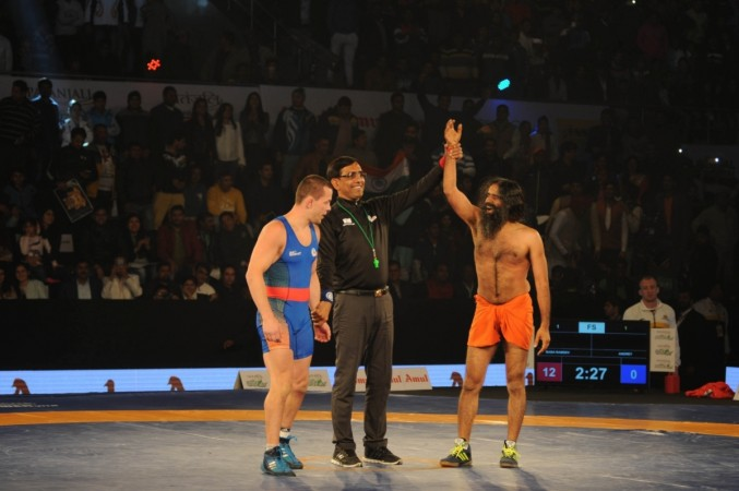 baba ramdev wrestling video