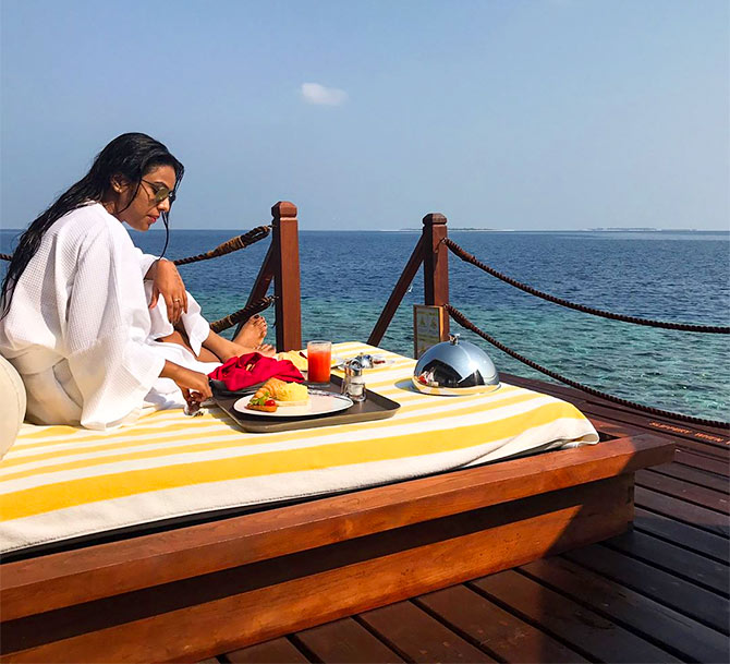 Nia sharma holiday Maldives Reach pics