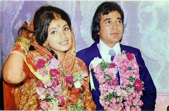 Rajesh Khanna And Dimple Kapadia