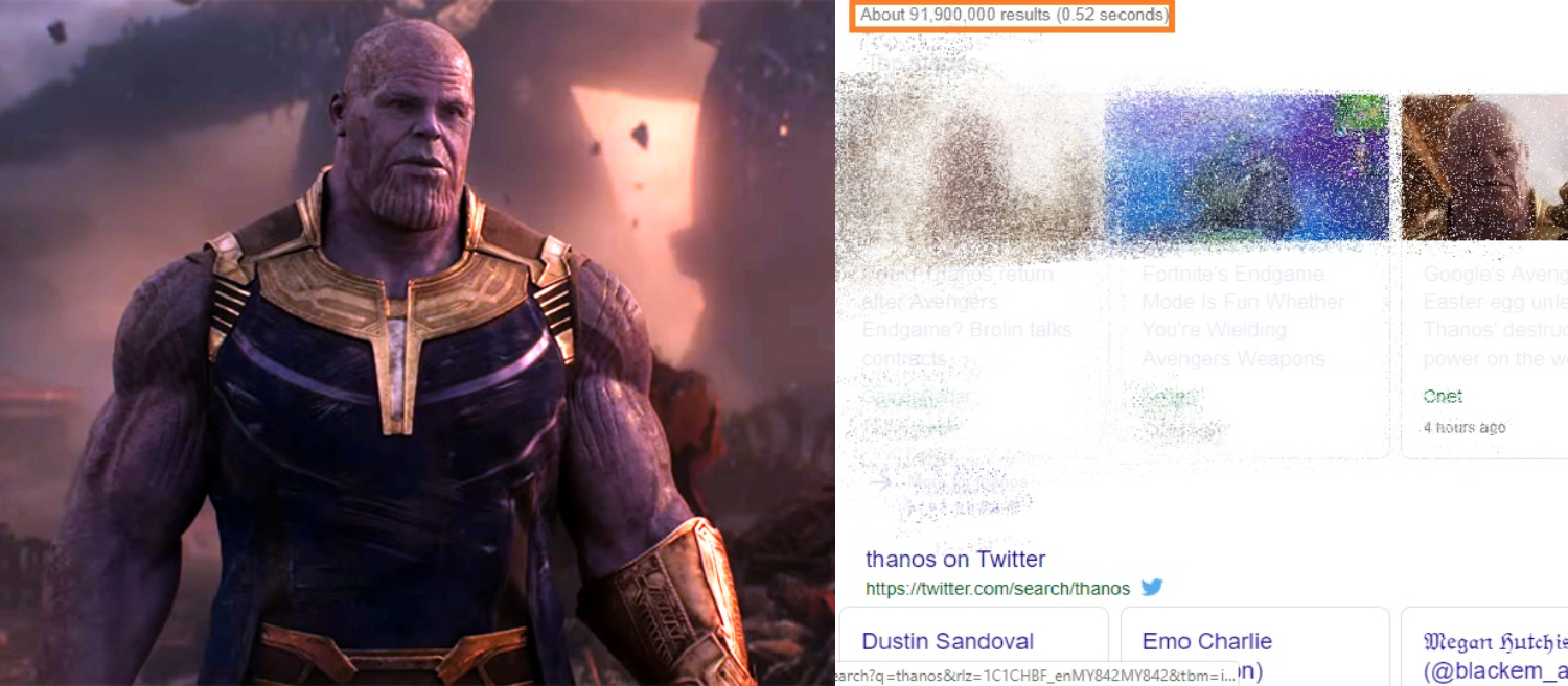 Did you see this magic if not then Google 'Thanos' for an Avengers Easter Egg