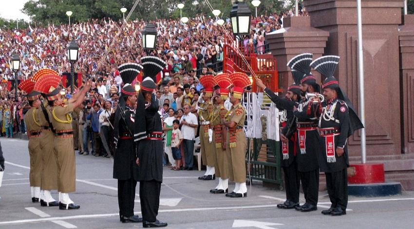 Wagah Border Amritsar Retreat Ceremony